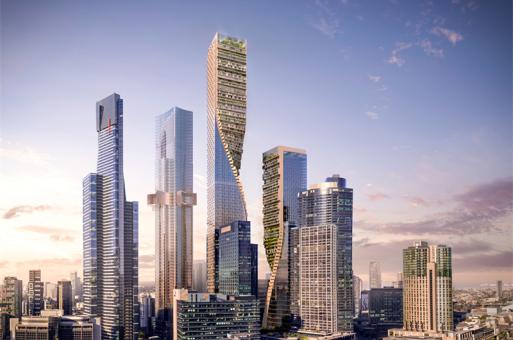 """墨尔本市中心将出现超高""""绿色脊柱"""""""