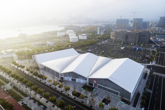 数字建造:上海西岸人工智能峰会B馆 / 创盟国际