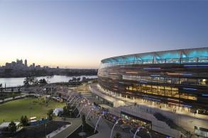 公园里的体育场:珀斯Optus体育场、体育场公园及雪佛龙公园 / HASSELL