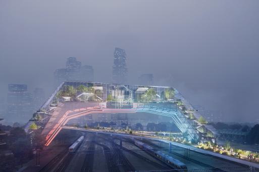 在海牙,UNStudio设计的未来之城长什么样?