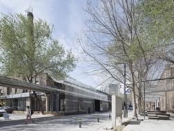 建筑视频   40天内用轻盈的入口激活街区,木木美术馆入口改造