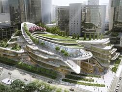 """Andrew Bromberg at Aedas设计的未来国贸三期C获两项国际大奖,你是否期待这个北京东三环的""""公共绿地""""?"""