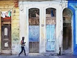 周宏智水彩笔下的墨西哥和古巴