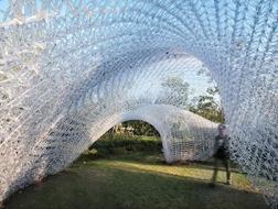 滴水湖畔落云亭:3D打印的展亭 / 创盟国际