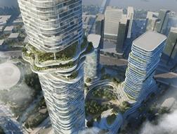 Empire City:自然景观融入摩天楼,为越南的未来而设计 / 奥雷·舍人事务所