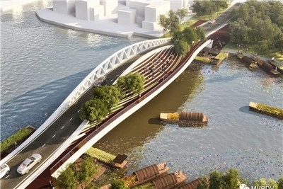"""在上海青浦,MVRDV将建""""黎明之桥"""""""