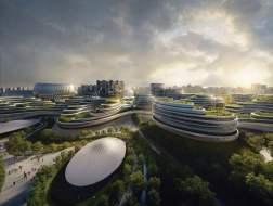 """成都""""独角兽岛""""项目花落扎哈事务所,已于7月30日开工建设"""