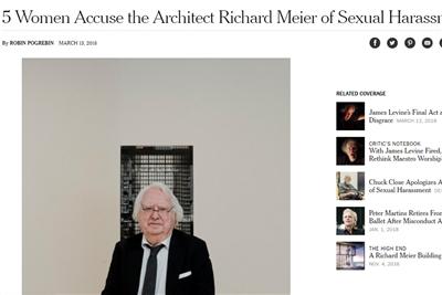 理查德·迈耶被控性骚扰,将暂离事务所六个月