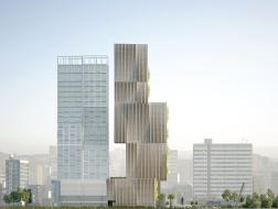 朝向天空的绿色阶梯:黎巴嫩法国银行总部方案 / Piuarch