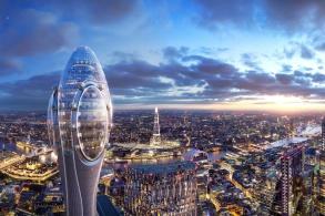 """伦敦市长驳回福斯特建筑事务所""""郁金香""""塔方案"""