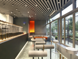 为排队而做的设计:喜茶静安嘉里中心店 / nota建筑设计工作室
