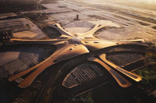 扎哈、ADPI、北京院等团队设计:北京大兴国际机场迎来首飞,这些画面不容错过
