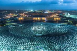 萨夫迪新作珠宝樟宜机场,室内40米瀑布创世界记录
