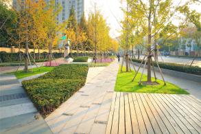 折纸地景:普善路三角绿地更新中的空间趣味 / 维亚景观、UPADI