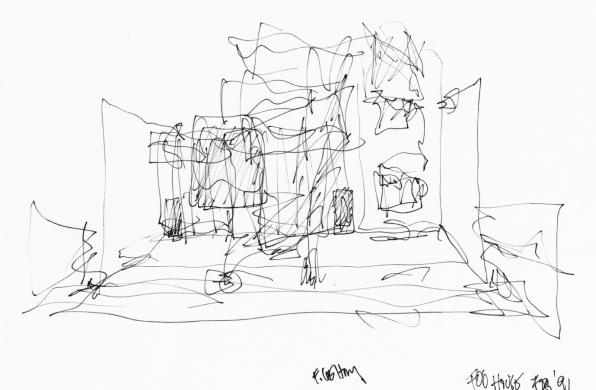 建筑绘   弗兰克·盖里的草图