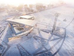 UNStudio最新设计:连接中俄的全球首个跨境缆车,布拉戈维申斯克缆车站方案公布