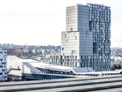 赫尔佐格&德梅隆新作:堆叠体块创造灵动空间,Meret Oppenheim Hochhaus