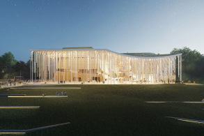 维尔纽斯音乐厅:山与云的交响 / Orange建筑师事务所