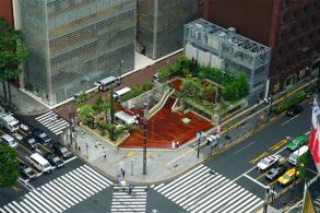 一个不断变化的公园:银座索尼公园(Ginza Sony Park)