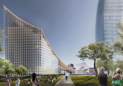 "BIG最新方案:米兰CityLife商业区""门户"",大屋顶下的城市广场"