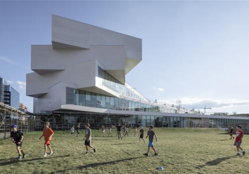 BIG新作:高地大楼,扇形展开的教育绿洲