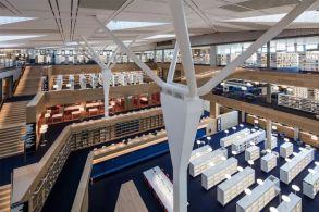 卢森堡国家图书馆(BIBLIOTHÈQUE NATIONALE DU LUXEMBOURG):街道般多变的阅览室 / BOLLES+WILSON