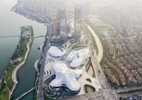扎哈事务所新作:长沙梅溪湖国际文化艺术中心,湖畔的白色曲线