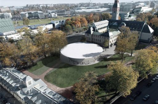 JKMM贏得芬蘭國家博物館擴建競賽,純白圓盤致敬阿爾托