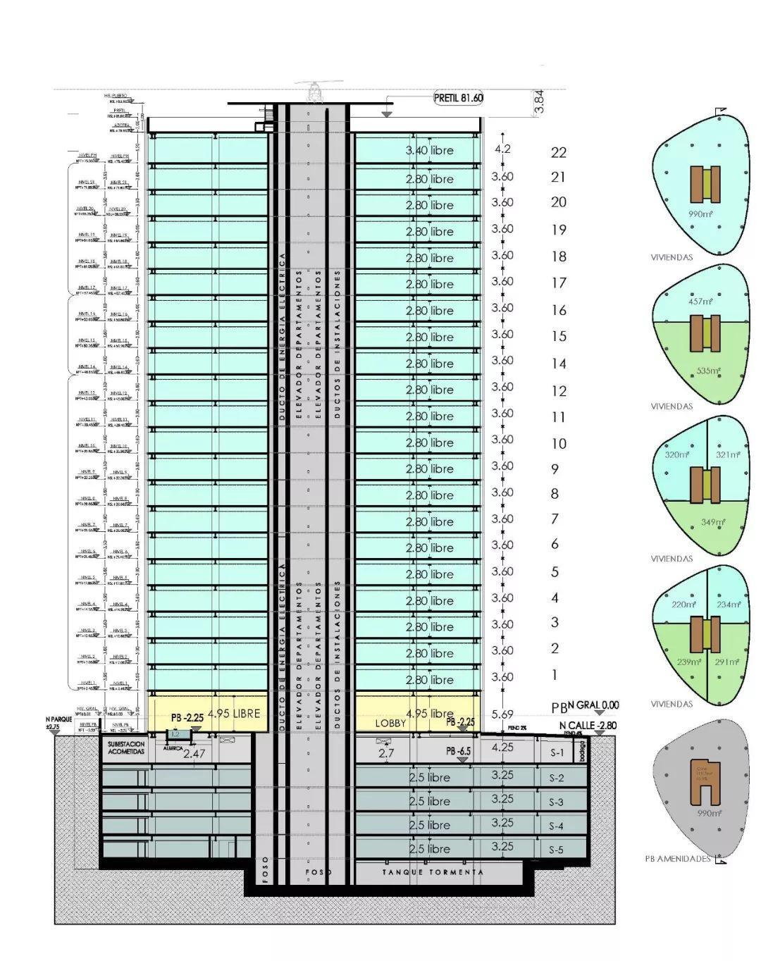 新作 | 墨西哥城旧工业区改造:Cervantes 大厦 / FR-EE