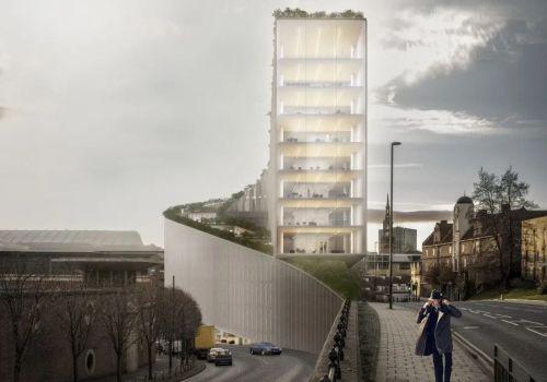 BIG最新方案:纽卡斯尔码头区一号,沿地形生长