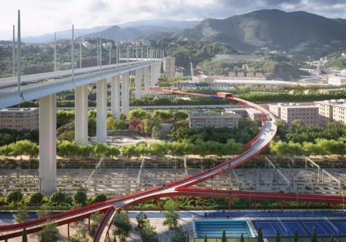 """皮亚诺""""莫兰迪大桥重建""""基本完工,与""""红环""""公园共建地区活力"""
