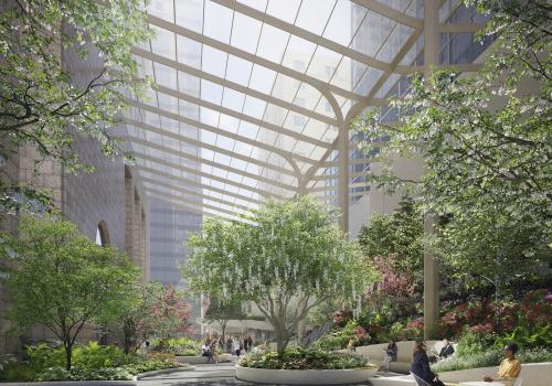 方案   喧嚣之外:麦迪逊大街550号公共花园改造计划 / Snøhetta