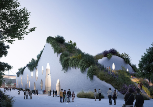 MVRDV方案:巴黎奥林匹克水上中心,城市绿肺