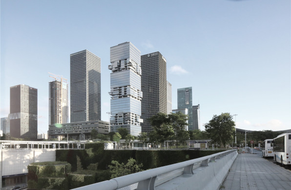 南方博时基金大厦:交错堆叠的体量 / Hans Hollein & Christoph Monschein