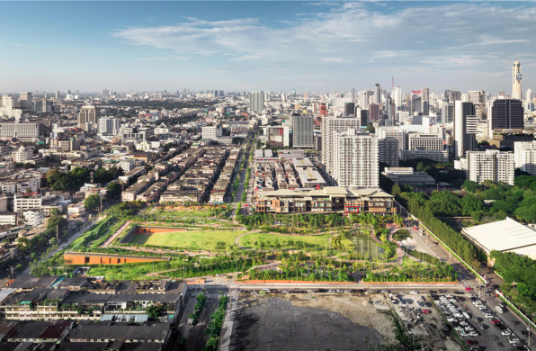朱拉隆功百年纪念公园:降低城市生态风险 / LANDPROCESS