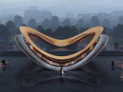 指环天桥设计方案 / 行之建筑设计工作室