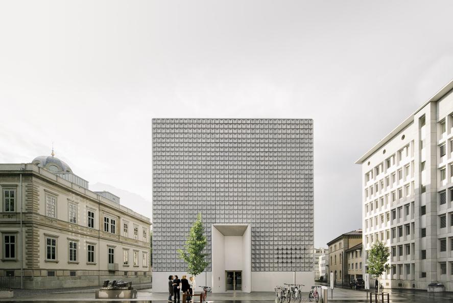 瑞士库尔州立艺术博物馆扩建:庄重的灰立方 / Barozzi Veiga