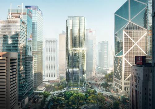 扎哈事务所最新方案:香港美利道2号,层次丰富的曲面玻璃体量