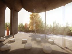 方案 | 曼谷三圣佛寺:刻画空境的混凝土 / HAS design and research