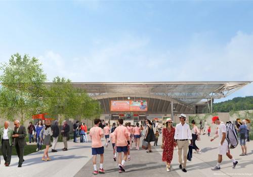 多米尼克·佩罗事务所最新获胜方案:法网Suzanne Lenglen网球场的折叠屋顶