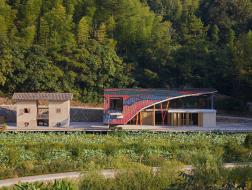 福建都团村公共服务中心:乡野中的像素画 / 三文建筑