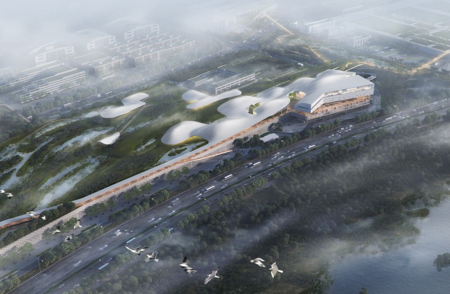 深圳红树林湿地博物馆,都市实践入围方案