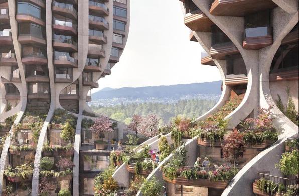 Heatherwick工作室最新方案:温哥华新住宅楼,树形双塔