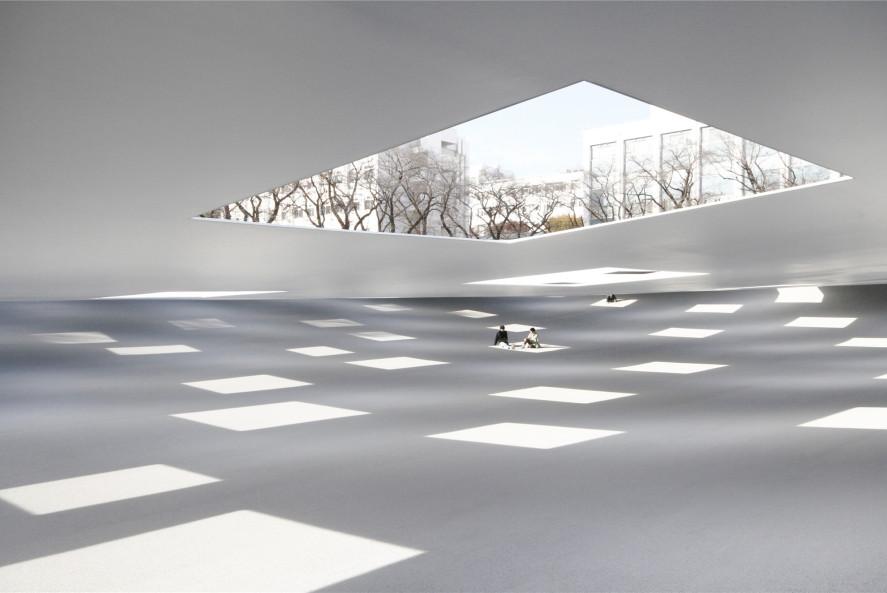 石上纯也发布:神奈川工科大学KAIT广场,度过时光的场所