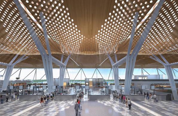方案   瓜达拉哈拉机场2号航站楼:波浪形木结构屋顶 / CallisonRTKL
