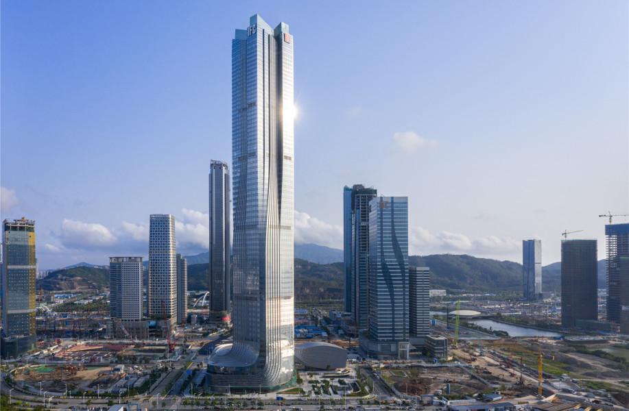珠海横琴国际金融中心:盘旋而起 / Aedas