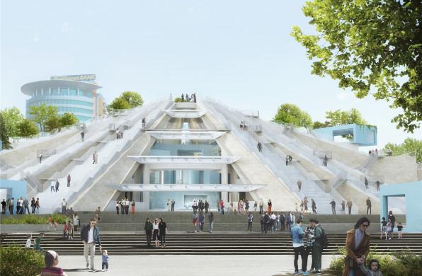 "MVRDV阿尔巴尼亚""金字塔""动工,原粗野主义建筑将改造为文化生活中心"