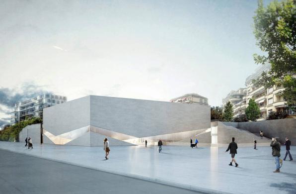 """瑞士""""10号站台""""艺术区建设中,上下分离的体量将容纳两个博物馆"""