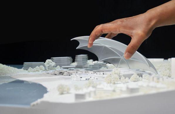 """MAD竞赛方案:珠海银坑艺术中心 - """"穹顶下的村庄"""""""