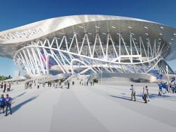 蓝天组赢SCA竞技场与公园再设计竞赛,灵感来自第三国际纪念碑